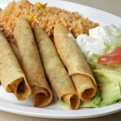 Chickpeas make a high protein, filling, vegetarian alternative to traditional meat in this easy flautas recipe that's perfect for a busy weeknight.