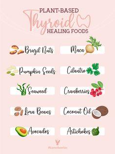 Foods Good For Thyroid, Foods With Iodine, Thyroid Vitamins, Hypothyroidism Diet, Thyroid Diet, Autoimmune Thyroid Disease, Thyroid Cancer, Underactive Thyroid, Herbs For Health