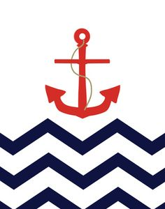 DIY photo booth background? Anchor Chevron illustration