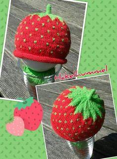 Süße Kids - Erdbeer - Mütze