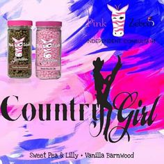 Pink Zebra recipe for Country Girl is made with Vanilla Barnwood and Sweet Pea and Lily sprinkles. Go to www.pinkzebrahome.com/mrasley to order.