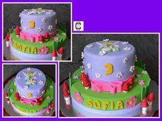 TINKERBELL THEMED FONDANT CAKE (Pastel temático de Campanita)