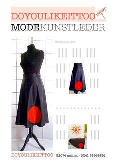 UNIKAT - Kunstleder-Rock von DOYOULIKEITTOO, Größe 38,Schwarz/Rot in Kleidung & Accessoires, Damenmode, Röcke | eBay