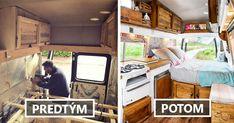 Scott a Ellie Morgan premenili van na krásny mobilný domček. Hrdzavejúci karavan z 80-tych rokov prerobili za 1,000 libier a 6 týždňov. Prerábka, dodávka