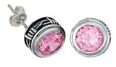Montana Silversmiths Pink Crystal & Barbed Wire Earrings available at #Sheplers