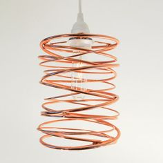 Spiral Nest Pendant Copper, $340, now featured on Fab.