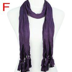 super soft polyester warm winter scarf for DIY elegant shawl PT-387F #Welldone #Scarf