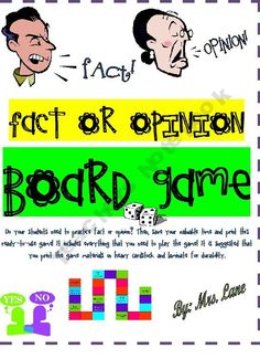 Fact or Opinion Board Game!
