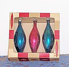 Vintage Christmas Ornaments ~ Glass Teardrop Ornaments by Coby Glass Products. ~~We had these when I was a little girl.