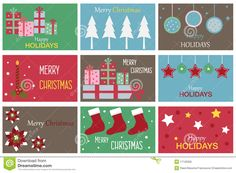 Christmas Gift Cards Stock Photo - Image: 17126300