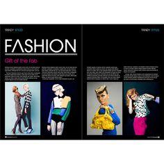 Fashion Magazine Layout ❤ liked on Polyvore