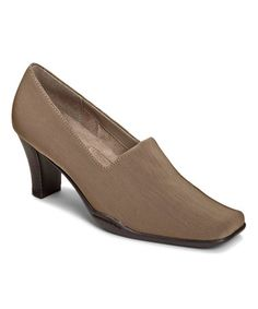 Another great find on #zulily! Taupe Cinfandel Pump by A2 by Aerosoles #zulilyfinds