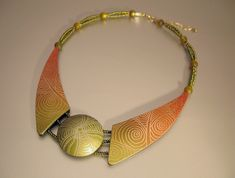 Necklace Complementary Harmony | Halskette mit Stempelmuster… | Flickr