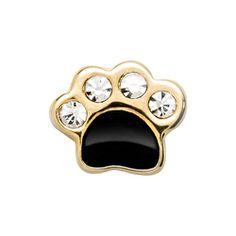 Crystal Gold Dog Paw