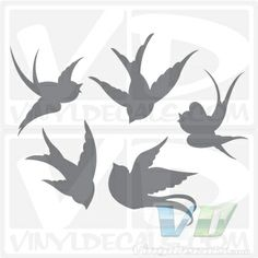 2 swallows flying silhouette tattoo | Swallow Silhouette Tattoo Pictures To Pin On Pinterest