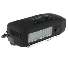 Hand Crank Solar Emergency FM Radio, MP3 Player, Flashlight, w/USB Cable Smart Cell Phone Charger 5 Colors
