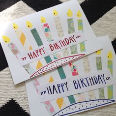 Handmade birthday cards in 10 minutes.