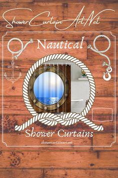 Upgrade your bathroom decor with a soft & stylish nautical shower curtain from Shower Curtain Art Nautical Shower Curtains, Shower Curtain Art, Bathroom Shower Curtains, Fabric Shower Curtains, Custom Fabric, Vibrant Colors, Mirror, Stylish, Home Decor
