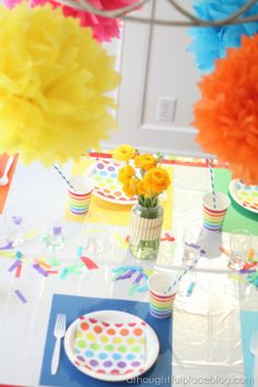 Rainbow Birthday Party | A Thoughtful Place