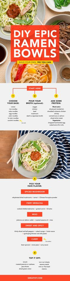 How to Make Epic Ramen Bowls at Home #Infographic #Ramen #Howto | Infographic List
