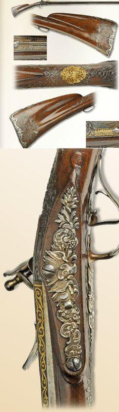 A flintlock gun from Malta, dated on rifle (1776).