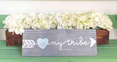 Do you love your tribe? Show your love with this great sign! Overview - Grey stained sign - glossy finish - 12\
