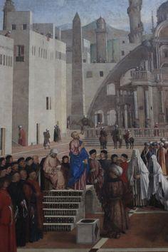 Gentile Bellini and Giovanni Bellini - Saint Mark Preaching in Alexandria. Detail. 1507