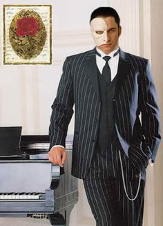 SKU Stripe ~ Pinstriped Tuxedo Suit Black White 7 days delivery Available in 2 Buttons or 3 buttons Pinstripe Suit, Tuxedo Suit, Gerard Butler, 1940s Mens Suits, Suit Fashion, Mens Fashion, Fashion 1920s, Victorian Fashion, 1920s Mens Costume