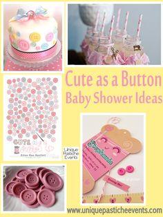 Cute as a Button – Baby Shower Ideas