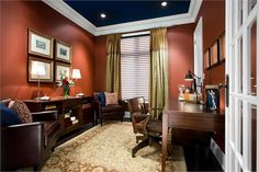 Cozy Traditional Home Office by Jane Lockhart on HomePortfolio