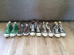 All my coverse (most of them are all star) sneakers. I have a converse addiction I think. But they are all so cool and comfortable.