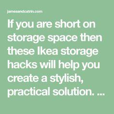 If you are short on storage space then these Ikea storage hacks will help you create a stylish, practical solution. Great Ikea hack inspiration for storage. Kids Storage Units, Ikea Storage, Storage Hacks, Ikea Pax Wardrobe, Built In Wardrobe, Ikea Bed Slats, Ikea Tarva Dresser, Ikea Closet Organizer, Ikea Raskog