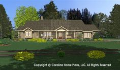 3D Images For CHP-SG-1681-AA | Small Country Ranch 3D House Plan Views