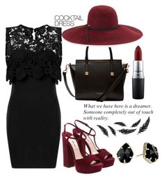 """""""#cocktaildress"""" by ana-anny-blagojevic ❤ liked on Polyvore featuring Ted Baker, Inverni, MAC Cosmetics, Kendra Scott and cocktaildress"""