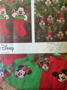 Disney Christmas Pattern Simplicity 8292 Sewing Mickey Mouse Minnie