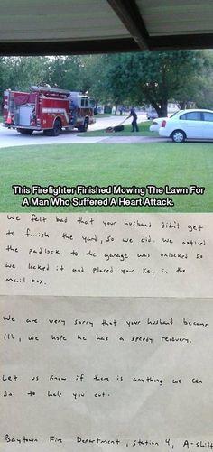 Feuerwehrmänner mit einem guten Herz   Webfail - Fail Bilder und Fail Videos