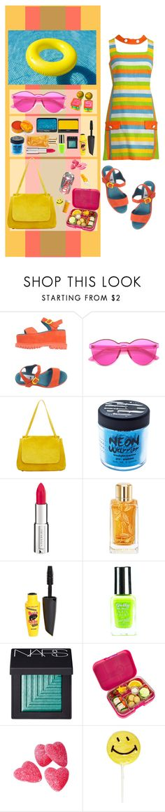 """""""Pool Part @ My House ~"""" by anayansi-m ❤ liked on Polyvore featuring ZeroUV, The Row, Nicole Miller, Medusa's Makeup, Givenchy, Lancôme, NARS Cosmetics, L.A. Colors, Barry M and Yumbox"""
