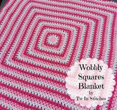 Tw-In Stitches: Wobbly Squares Blanket - Free Pattern | Tw-In Stitches
