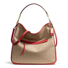 The Madison Hobo In Needlepoint Op Art Fabric from Coach