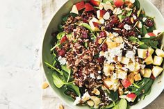 Quick Cherry Quinoa Salad - A simple and quick summer salad - with crunch, texture, and lots of flavor! Best Quinoa Salad Recipes, Winter Salad Recipes, Vegetarian Recipes, Vegetarian Dinners, Healthy Recipes, Summer Recipes, Healthy Eats, Rice Salad, Beet Salad