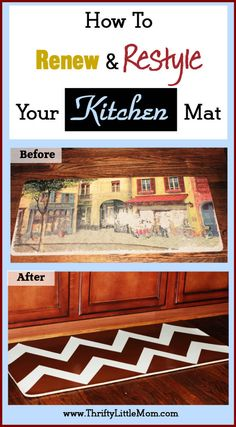 How to renew and restyle your memory foam kitchen mat. List of supplies and step by step instructions for updating your existing worn out mats!