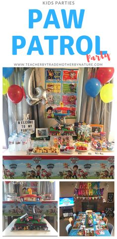 Teacher by trade, Mother by nature Paw Patrol Cupcake Toppers, Paw Patrol Cupcakes, Paw Patrol Dvd, Paw Patrol Party, Personalized Chocolate, Balloon Banner, Happy Birthday Balloons, Helium Balloons, Tot School