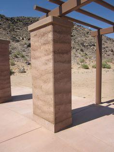 rammed earth column - terra battuta