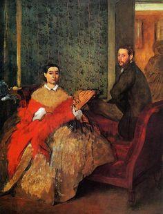 Edgar Degas, Edmondo and Therese Morbilli on ArtStack #edgar-degas #art