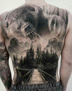 101 Badass Tattoos For Men: Cool Designs + Ideas Guide.- 101 Badass Tattoos For Men: Cool Designs + Ideas Guide) Awesome Hunting Tattoo Ideas For Men – Best Tattoo Ideas For Men: Cool Badass Tattoos For Guys – Awesome Designs - 3d Tattoos, Best Sleeve Tattoos, Large Tattoos, Trendy Tattoos, Animal Tattoos, Body Art Tattoos, Mens Tattoos, Animal Sleeve Tattoo, Geisha Tattoos