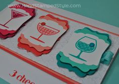 layer the SU Artisan Label Punch over the SU Decorative Label punch Punch Art, Scrapbook Cards, Scrapbooking, Craft Punches, Candy Cards, Homemade Cards, Stampin Up Cards, Your Cards, I Card