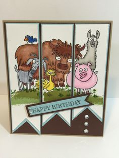 Stampin Up,From the herd, birthday card