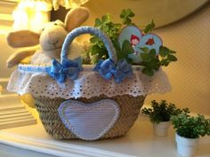 Caperucita Roja Shaby Chic, Straw Handbags, Gift Baskets, Ideas Para, Decoration, Creations, Artsy, Mint, Baby Shower