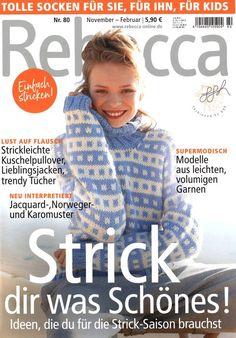 Rebecca - Обсуждение на LiveInternet - Российский Сервис ОнРKnitting Magazine, Crochet Magazine, Knitting Books, Catalogue, Knitwear, Knit Crochet, Magazines, Fabric Covered, Knitting