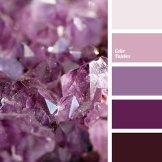 amethyst color, amethyst crystals color, color of amethyst, lilac color, lilac… Purple Color Palettes, Colour Pallette, Colour Schemes, Color Combos, Shades Of Violet, Amethyst Color, Amethyst Quartz, Color Balance, Design Seeds